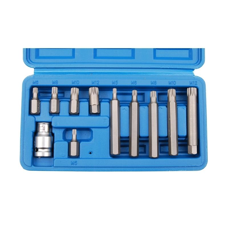 XZN-Schraubendreher-Bitsatz-5-lang-5-kurz-5-Innenvielzahn-Bits-und-Adapter-BGS